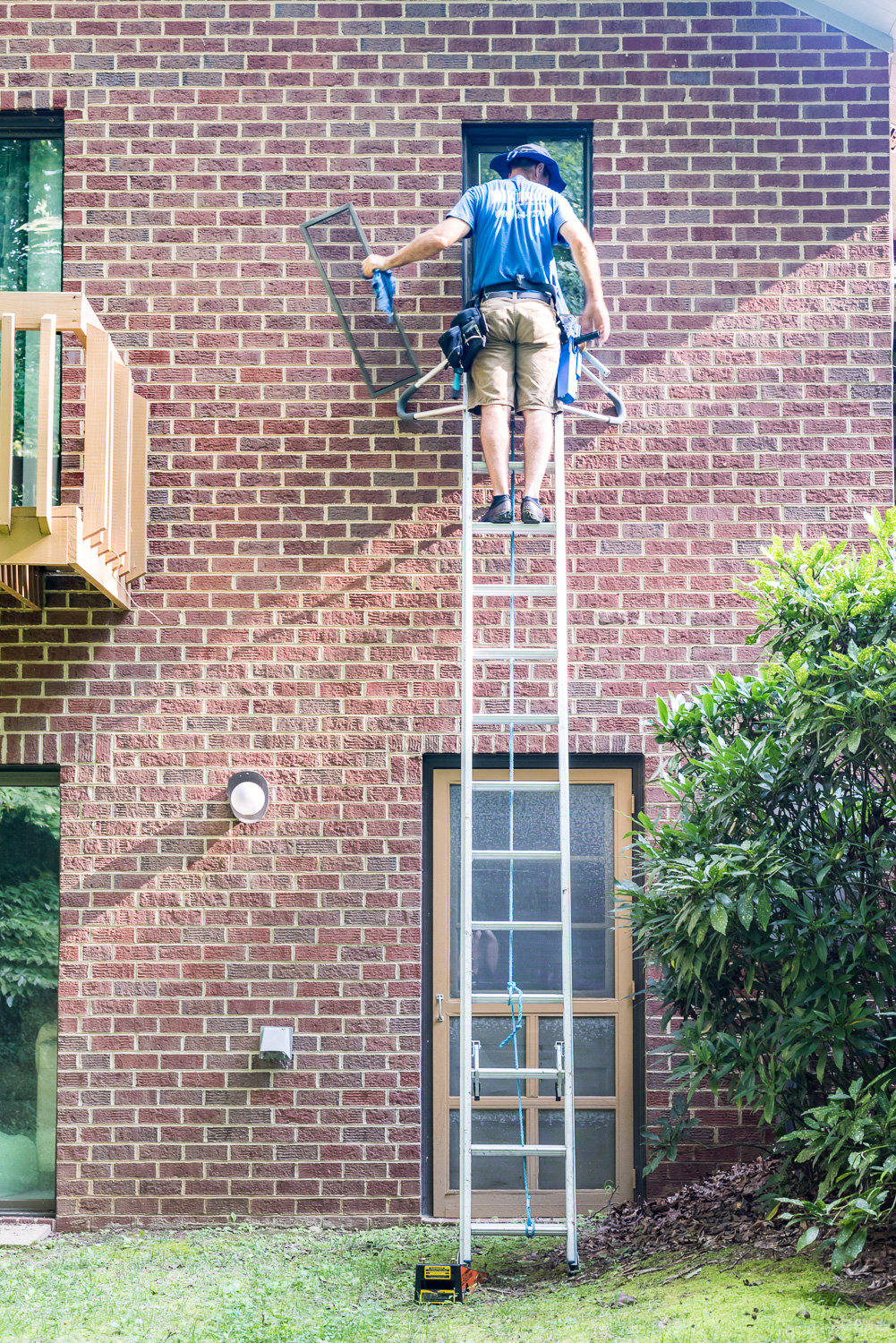 Our ladders can reach all your windows to clean in Richmond, VA.